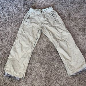 K2 Ski snowboard beige tan pants EUC large